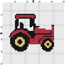 Tractor Counted Cross Stitch Kit available in 3 colours